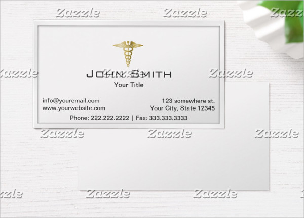 Medical Gold Professional Business Card