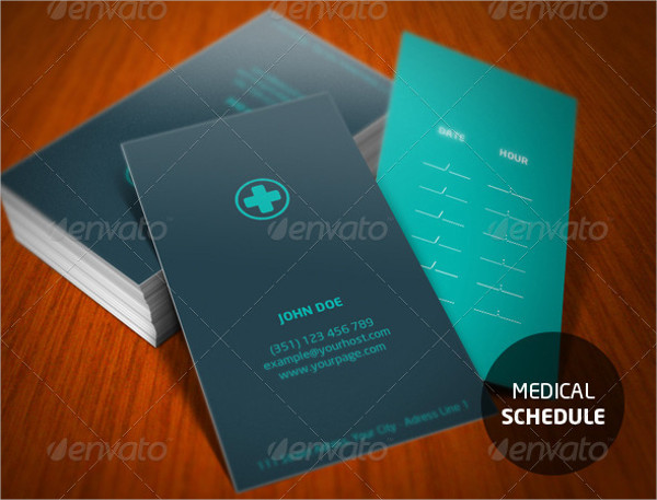 A Medical Style Business Card Template