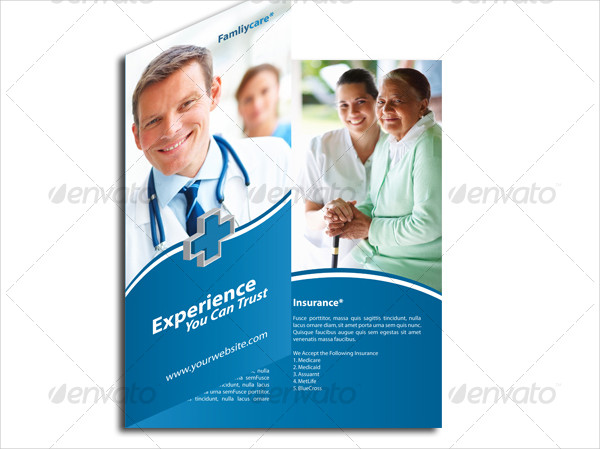 Medical Care Trifold Brochure Template