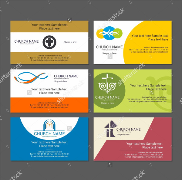 Set of Church Business Cards