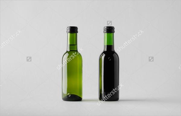 Mini Wine Bottles Mockup