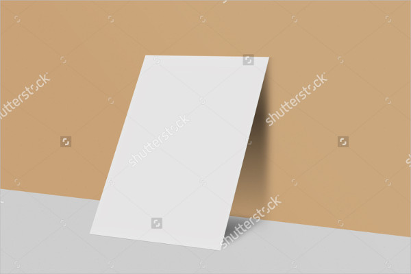 Mockup of Blank Posrcard