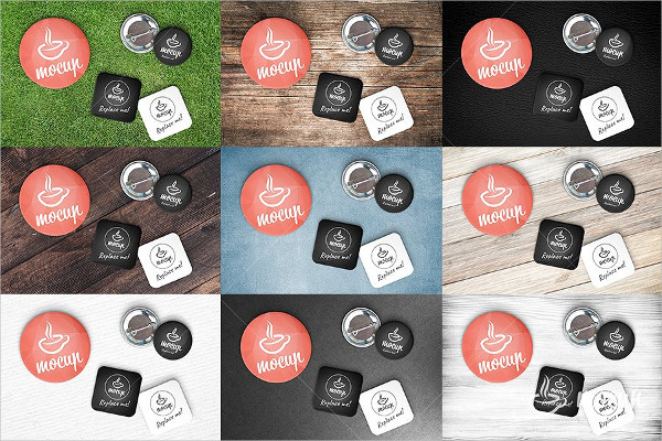Mockup of Pin Button Badge