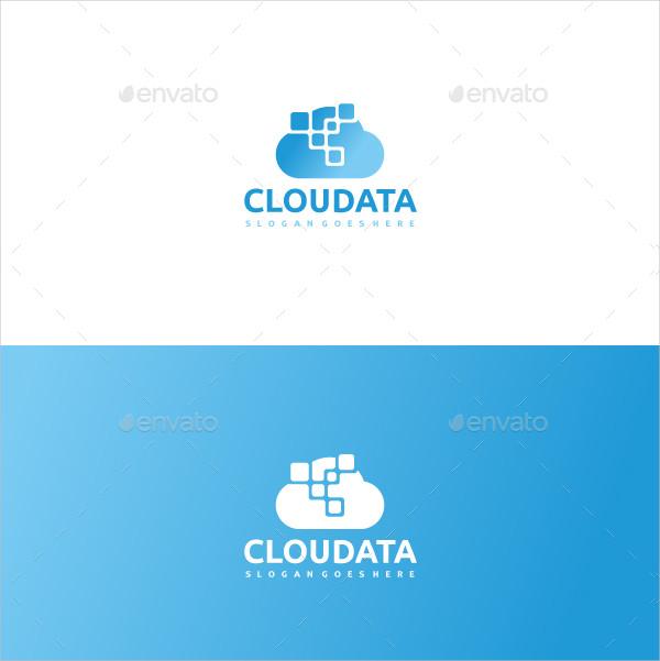 Modern Cloud Data Logo Template