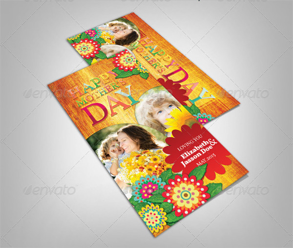 Modern Mother's Day Greeting Card PSD
