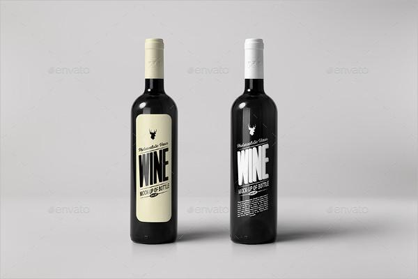 Modern Wine Bottle Mockup
