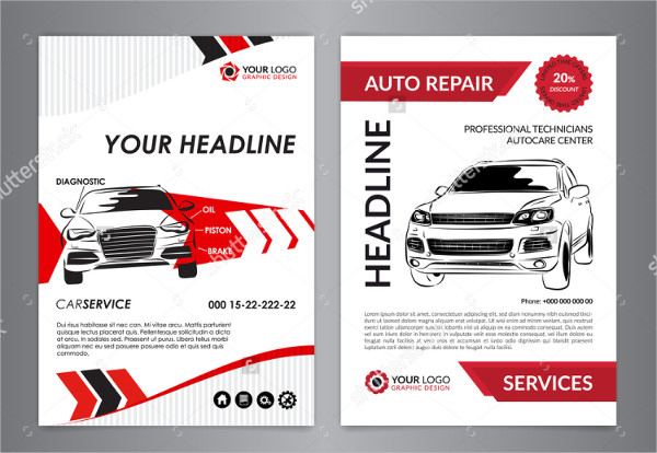 Clean Auto Repair Flyer Template