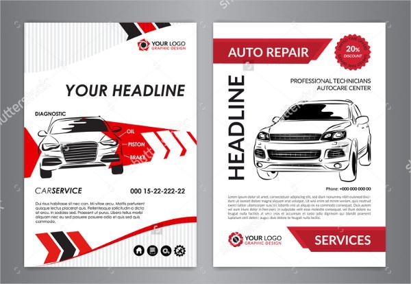 Clean Auto Repair Flyer Template