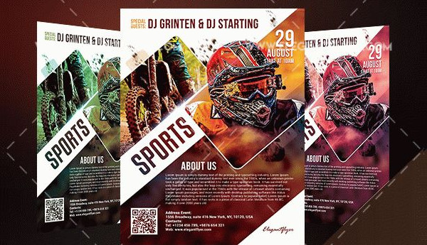 Motor Sports Free Flyer Template