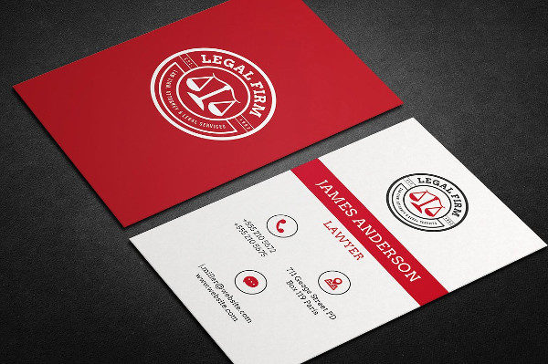 Clean Legal Firm Business Card Template