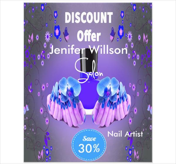 Nail Artist Salon Flyer