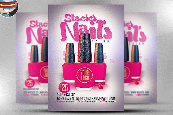 13 nail salon flyer templates free premium download