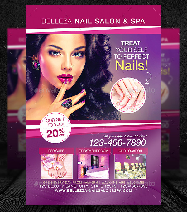Nail Salon Advertising Flyer