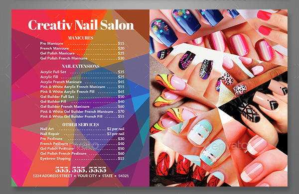 Colorful Nail Salon Flyer Template