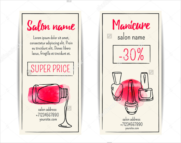Nail Salon Watercolor Flyer