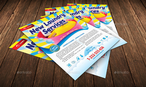 New Laundry Services Flyer Template