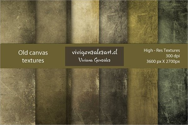 Set of 6 Old Canvas Textures