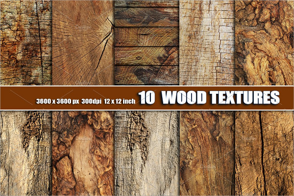 10 Old Dark Wood Textures
