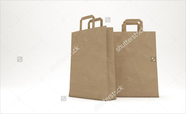 Mockup Paper Bag 3D Clean Background
