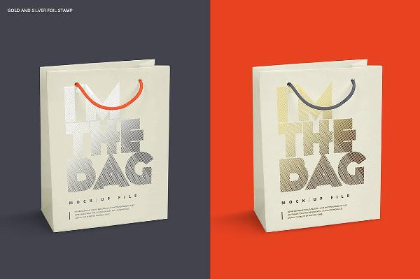 Paper Bag 4 Sizes Mockup Set