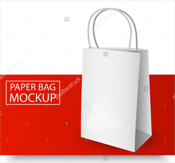 Paper Bag Mockup with Handles