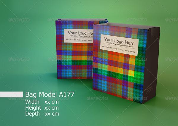Basic Paper Bag Mockups Bundle