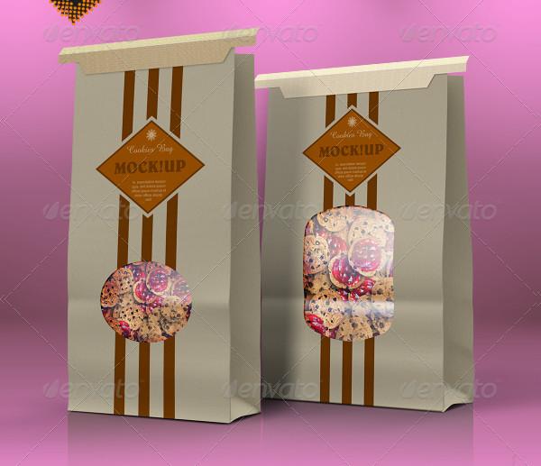 Paper Cookie Bag Mockup