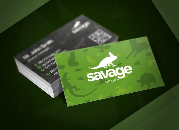 Pet Services Business Card Template