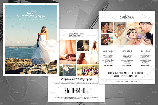 Photography Pricing Guide Flyer Template