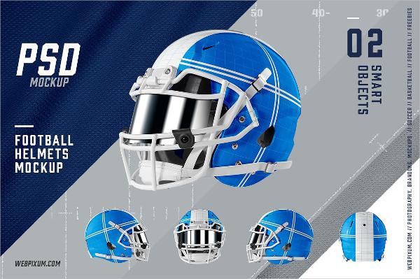 Photoshop Football Helmets Mockup Template