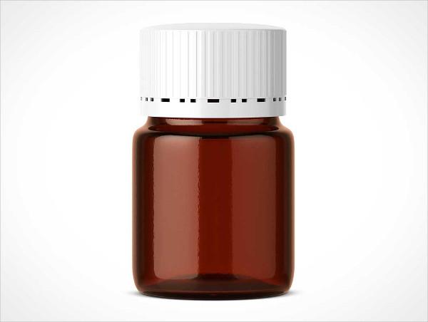 Pill Bottle Jar PSD Mockup
