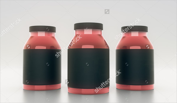 Pills Glass Bottles Mockup