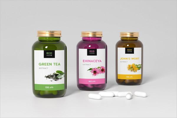 Pills Mockup of Three Bottles