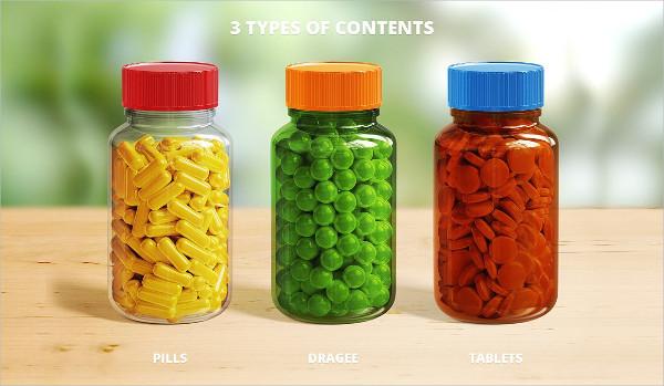 Pills Packaging Bottle Mockup