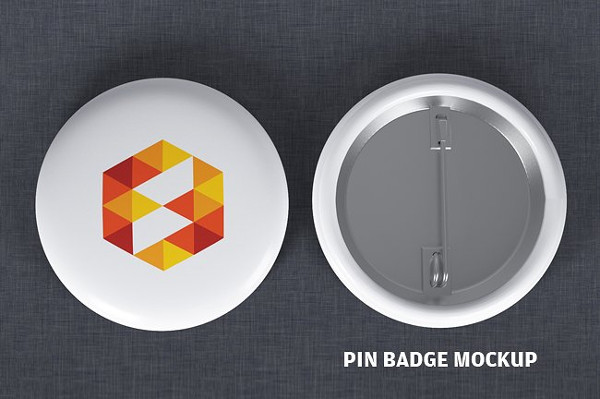 Pin Button Badge Design Mockup