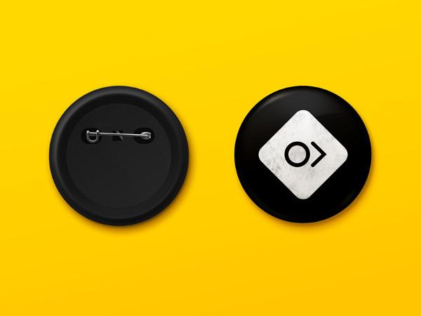Pin Button Mockup Template