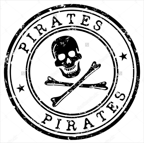 Pirate Stamp Vector Template