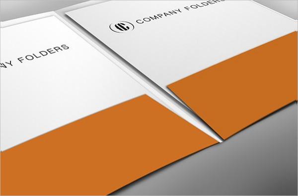 Close-Up Pocket Folder Mockup Template