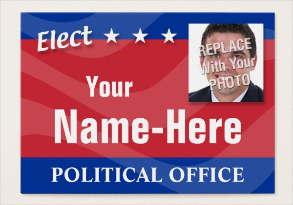 Political Campaign Business Card Template