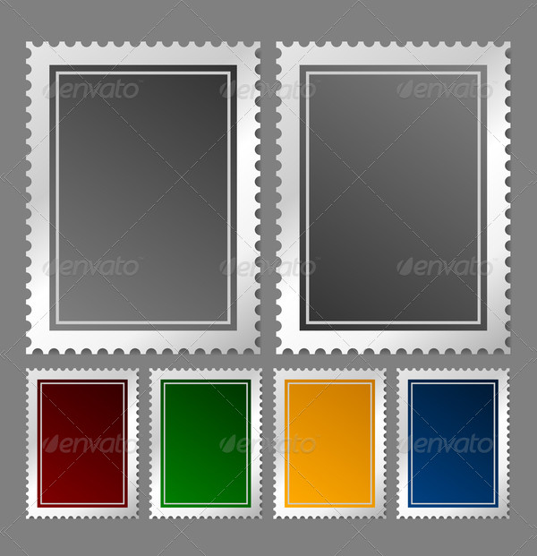Postage Stamp In Various Colors