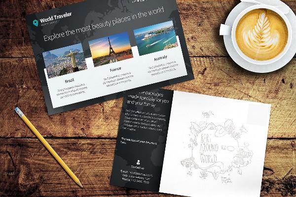 Postal Card Printable Mockup