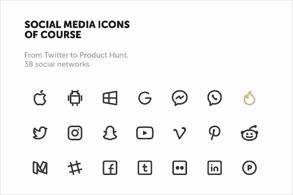 Social Media Icons in Vector