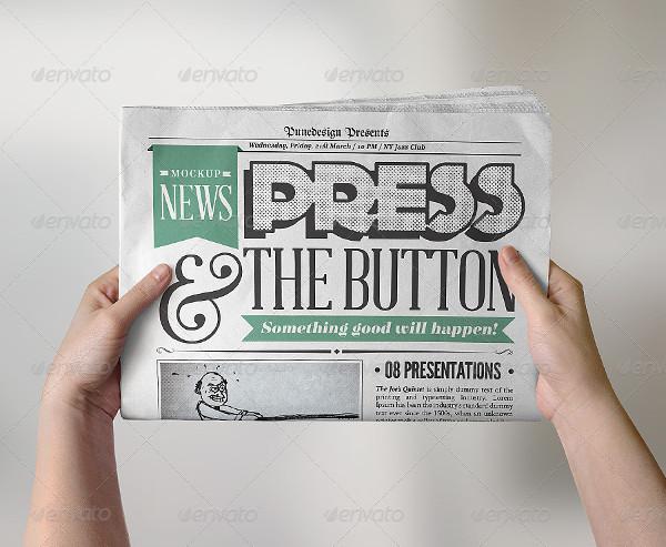 Newspaper Presentation Mockup