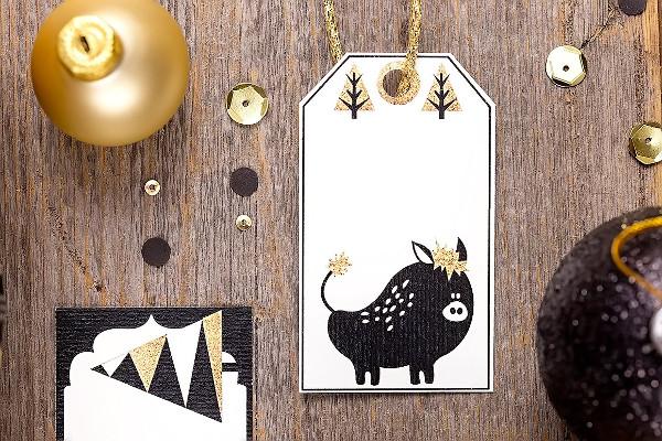 Printable Christmas Gift Tagsand Clipart Set