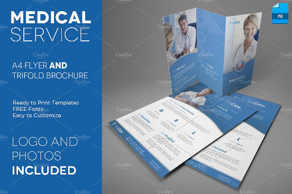 Printable Medical Service Brochure Template