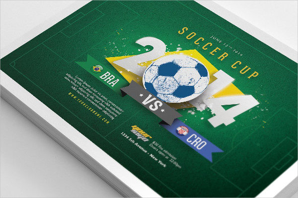Printable Soccer Cup Flyers PSD
