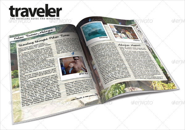 Printable Travel Magazine Templates Bundle