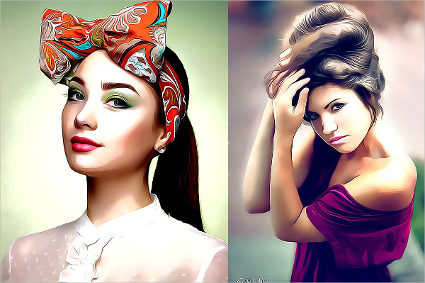 Pro Cartoon Oil Painting Photoshop Action