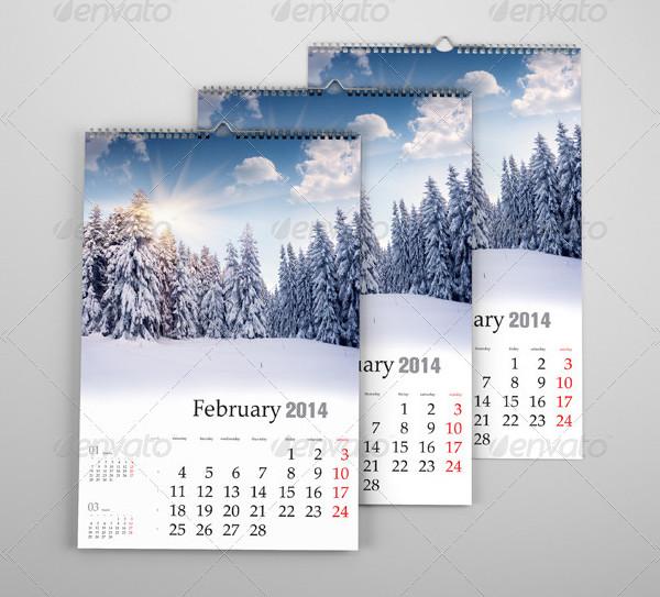 Professional Calendar Design Mock-Up