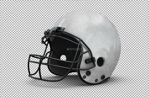 Professional Football Helmet PSD Mockup